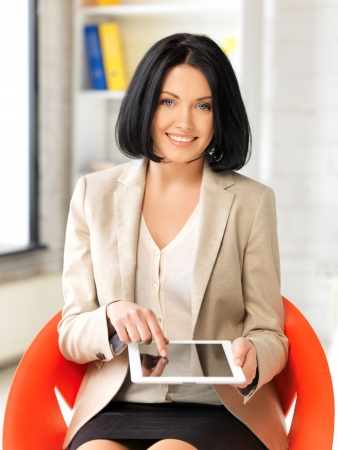 picture of happy woman with tablet pc computer Stock Photo - 13401129