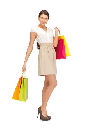 carry bags: picture of lovely woman with shopping bags