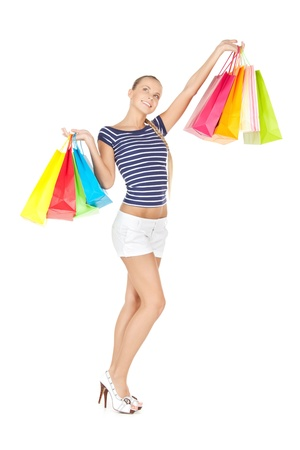shopaholics: picture of lovely woman with shopping bags
