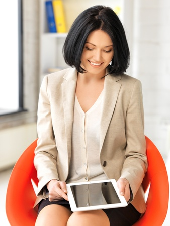 picture of happy woman with tablet pc computer Stock Photo - 13469111