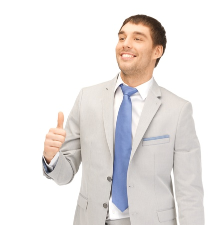 bright picture of handsome man with thumbs up Stock Photo - 13469265