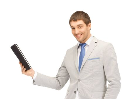 picture of happy man with tablet pc computer Stock Photo - 13469320