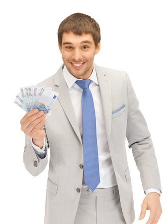 picture of handsome man with euro cash money Stock Photo - 13469381