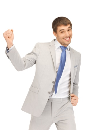 bright picture of handsome man with expression of tryumph Stock Photo - 13469205