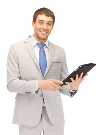 picture of happy man with tablet pc computer Stock Photo - 13538913