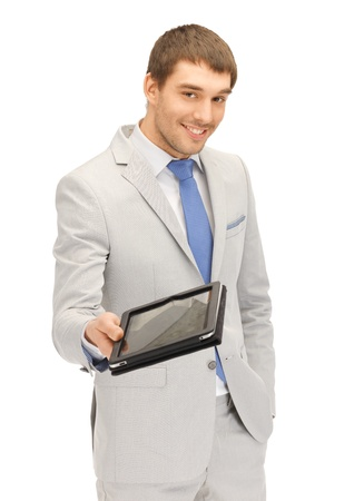 picture of happy man with tablet pc computer Stock Photo - 13582423