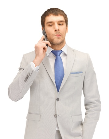 picture of handsome man with cell phone Stock Photo - 13582478