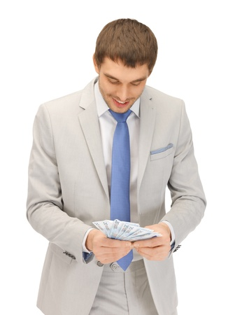 picture of handsome man with euro cash money Stock Photo - 13582343