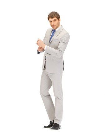 bright full length picture of handsome man Stock Photo - 13582223