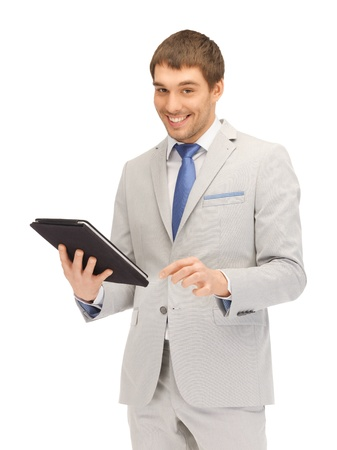 picture of happy man with tablet pc computer Stock Photo - 13618858