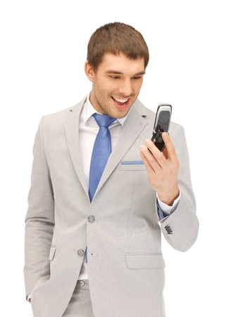 picture of angry man with cell phone photo