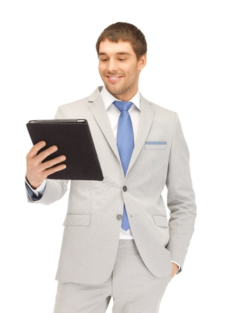 picture of happy man with tablet pc computer Stock Photo - 13636479