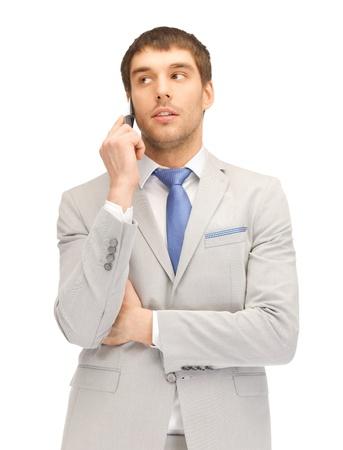 Bild von schöner Mann mit Handy