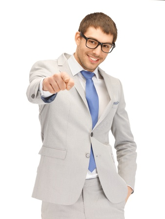 picture of attractive businessman pointing his finger Stock Photo - 13772831