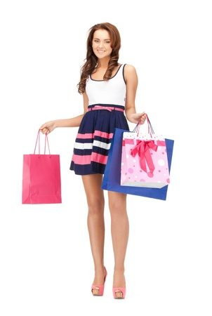 picture of lovely woman with shopping bags Stock Photo - 13772677