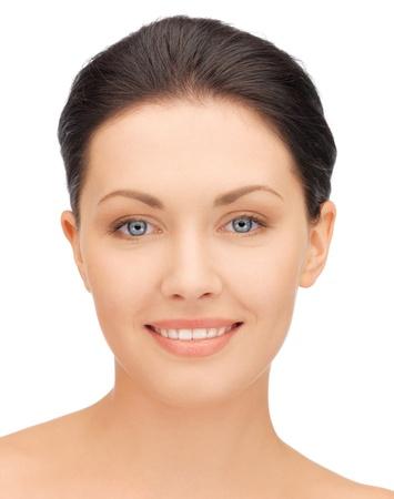 visage: Primer plano de imagen brillante retrato de una mujer hermosa