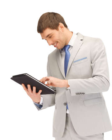 picture of happy man with tablet pc computer Stock Photo - 13818675