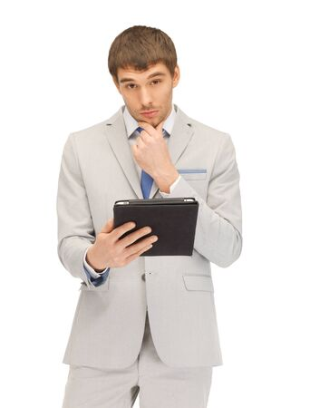 one people: picture of calm man with tablet pc computer