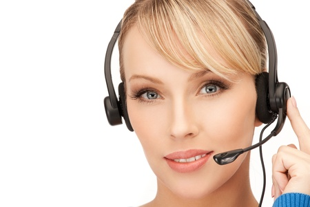 bright picture of friendly female helpline operator Stock Photo - 13818600