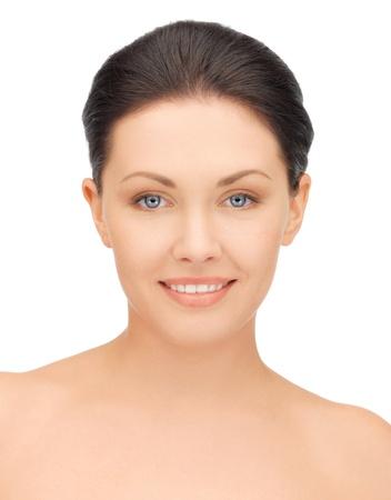 visage: closeup brillante retrato de mujer hermosa Foto de archivo