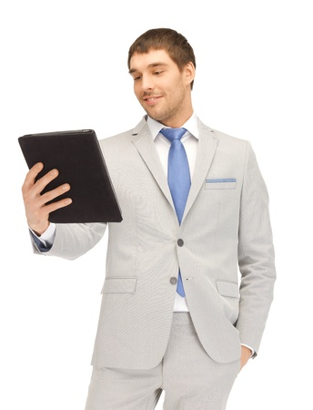 picture of happy man with tablet pc computer Stock Photo - 13842281