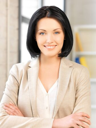 bright picture of happy and smiling woman Stock Photo - 13902439