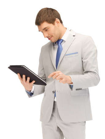 picture of happy man with tablet pc computer Stock Photo - 13902459