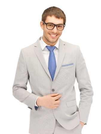 portrait picture of happy businessman in spectacles Stock Photo - 13902462