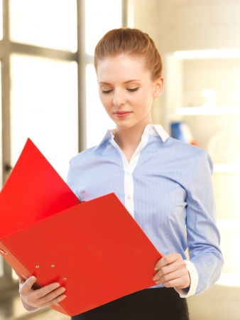 indoor picture of calm woman with documents Stock Photo - 13902370
