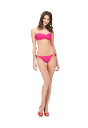 leggy girl: bright picture of beautiful woman in bikini and high heels