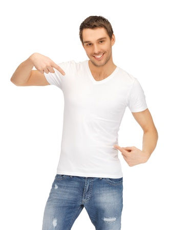 bright picture of handsome man in white shirt