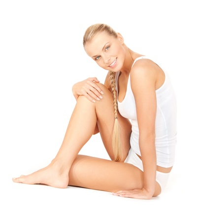 bodycare: picture of beautiful woman in cotton undrewear