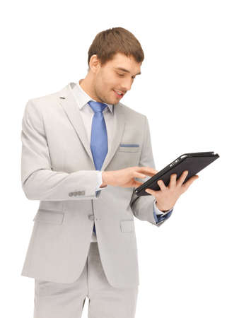 picture of happy man with tablet pc computer Stock Photo - 14048058