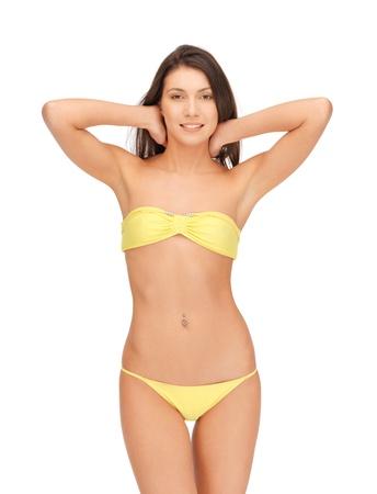bright picture of beautiful woman in bikini photo