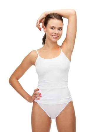 cotton panties: Foto de mujer hermosa en undrewear de algod�n