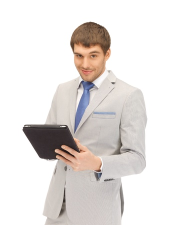 picture of happy man with tablet pc computer photo