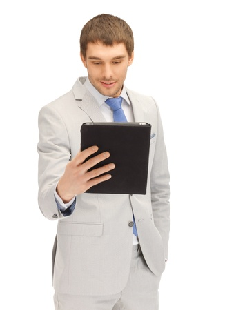 picture of happy man with tablet pc computer Stock Photo - 14114174