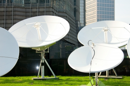 dish disk: picture of parabolic satellite dish space technology receivers