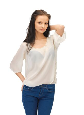 bright picture of beautiful woman in casual clothes Stock Photo - 14312999