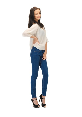 picture of beautiful woman in casual clothes on high heels Stock Photo - 14312918