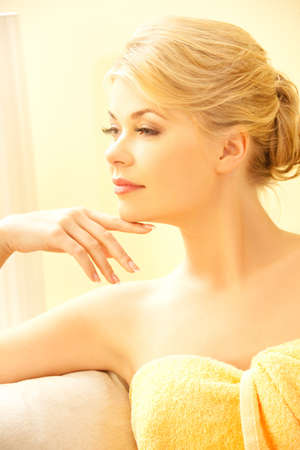 beauty parlor: picture of beautiful woman in spa salon