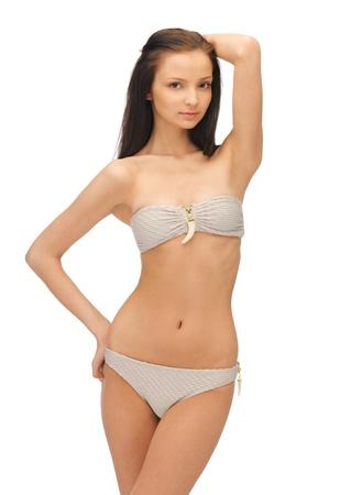 tempting: bright picture of beautiful woman in bikini