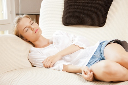 picture of lovely sleeping teenage girl at home Stock Photo - 14464766