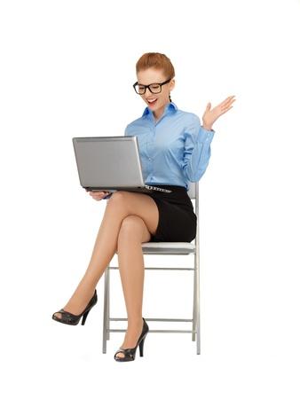 friki: imagen de la mujer con el ordenador port�til en las especificaciones