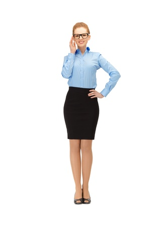 picture of happy and smiling woman in specs Stock Photo - 14635218