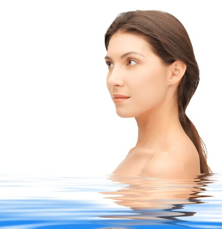 bright picture of beautiful woman in water Stock Photo - 14636158
