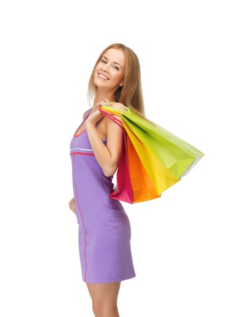 picture of happy teenage girl with shopping bags Stock Photo - 14729778