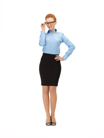 picture of happy and smiling woman in specs Stock Photo - 14723918