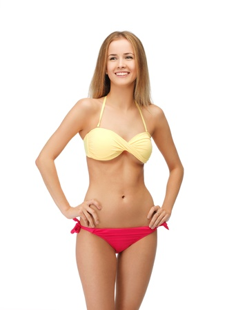 alluring women: bright picture of beautiful woman in bikini