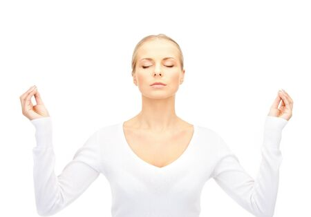 bright picture of beautiful woman in meditation Stock Photo - 14729767